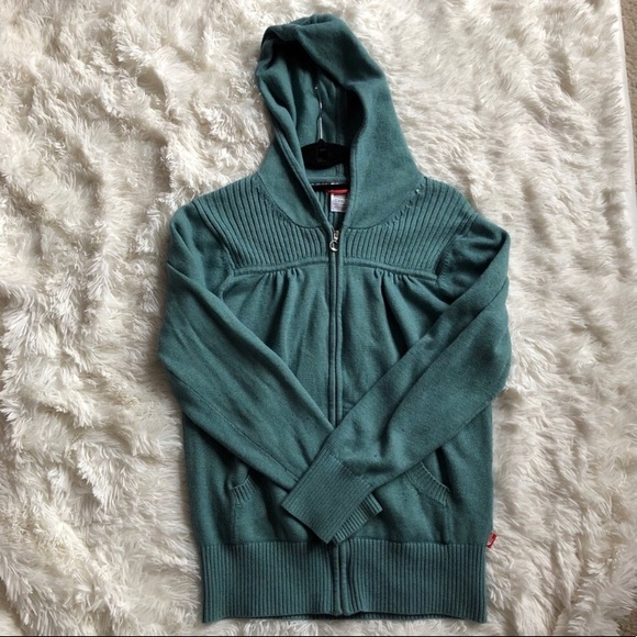 fdf4b2b08ee2 The North Face Tops - The North Face Knitted Wool Blend Zip Up Hoodie